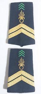 Paire de Fourreaux d'épaules Grades Galons pour SERGENT Légion Étrangère