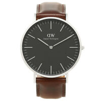 NEW Daniel Wellington BLACK Classic Bristol 40mm Men's Silver Watch DW00100131