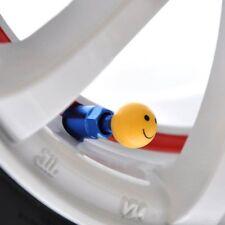 lot 4 bouchon valve smile rond jaune auto moto vélo jante roues voiture BMX pneu