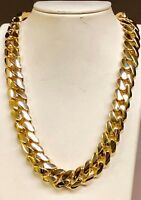 """18k Solid Yellow Gold Miami Cuban Curb Link 24"""" 16mm 485 grams chain/Necklace"""