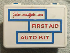 ALL ORIGINAL CONTENTS Johnson & Johnson First Aid Auto Kit 1960s RARE