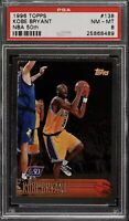 1996 Topps Foil NBA 50th Kobe Bryant ROOKIE RC #138 PSA 8