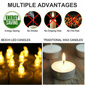Flameless Votive Candles Light Battery Operated Flickering LED Tea Lamp