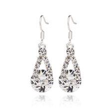 New Bridal Women Wedding Rhinestone Ear Hook Eardrop Earring