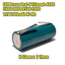 Battery for Braun ORAL-B Triumph Smart Toothbrush 4000 5000 1.2V 2100mAh Ni-MH