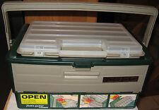 Vintage WOODSTREAM / Fenwick Lid LOCKER GOLD TACKLE BOX N.O.S.