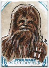 2018 Star Wars Masterwork Sketches Chewbacca Dan Gorman 1/1