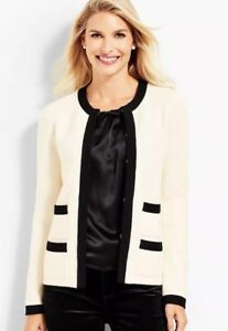 $149 NWT TALBOTS LADYS COTTON CASHMERE BLEND HOLIDAY PARTY CARDIGAN SIZE S