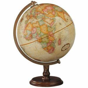 "Geographic Replogle Lenox 12"" Tabletop Globe w/ Classic Walnut Hardwood Base"