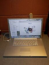 "Apple Powerbook G4 Aluminum A1107 17"" 1.67 Ghz 2.0GB 160GB SuperDrive OS 10 5 8"