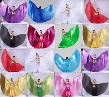Shimmer Belly Dance Wings Costume Shining ISIS WINGS Dance Wear Solid Colours