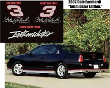 2002 1:1 MONTE CARLO DALE EARNHARDT SIGNATURE NASCAR INTIMIDATOR DECALS STICKERS