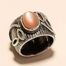Natural Mexican Cats Eye Ring 925 Sterling Silver Women Designer Fine Jewelry Aa
