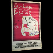 Original 1965 poster for the Edinburgh International Festival - Jean Cocteau