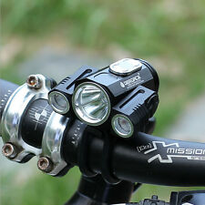 T6 X3 LED Rechargeable Bike Lights IPX6 Bicycle Lamp Headlights Flashlight