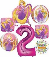 Princess Rapunzel Party Supplies 2nd Birthday Orbz Balloon Bouquet Decorations