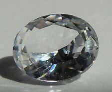 Oval 16x11 mm 11 ct VVS IF Rare Real White Sapphire Brilliant Diamond Solitaire