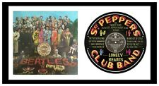 BEATLES - ART - SGT PEPPER - VINYL RECORD LYRIC ART - Ltd Edition - MEMORABILIA