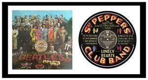 BEATLES - ART - SGT PEPPER - VINYL RECORD LYRIC ART - Ltd Edition - MEMORABILIA