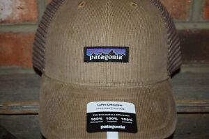 Patagonia Men's P-6 Logo LoPro UnTrucker Hat Adjustable Snapback (Mojave Khaki)