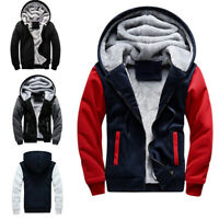 Men Winter Warm Fleece Hoodies Sweatshirts Sweater Hooded Jacket Coat Outwear