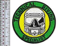 SCUBA Hard Hat Commercial Diver Technical Diving Specialists Qualified Patch xl