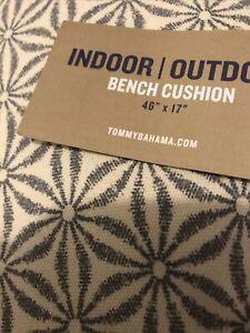 """tommy bahama Bench Cushion 46""""X17""""X2.5"""" Gray NWT"""