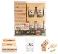 Tipsy Tower Drinking Game Set Party Fun Drink Group Friends Shot Glasses