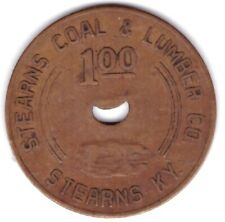 Stearns Coal Mining Lumber Co Scrip $1 Strns Kentucky KY McCreary County Token M