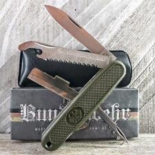 Bundeswehr German Army Style Pocket Knife MI212 Olive Drab Green EDC Multi-Tool