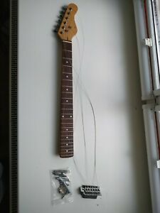 FENDER STRAT STRATOCASTER GUITAR NECK TUNERS NEW POLISHED STRINGS TREMOLO SYSTEM