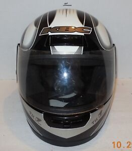 KBC TK-7 Motorcycle Helmet Black White Grey Sz Large Snell DOT Approved