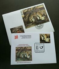 Slovenia - Austria Joint Issue Postojna Cave 2013 (FDC pair)  *see scan