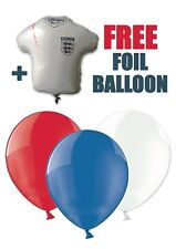 "World Cup Serbia Colours 12"" Asst Latex Balloons pack of 25 + free foil balloon"