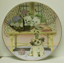 Hamilton Collection Two Against One Collector's Plate: Mixed Company by Cooper