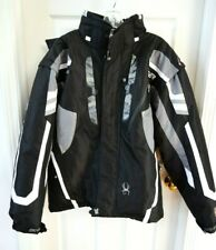 SPYDER HEAVY WARM SNOWBOARD SKI JACKET COAT MEN SIZE M BLACK