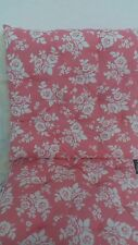 White Rose Pink Chair Cushion 40x40 White Country Style Roses Pillow Edition