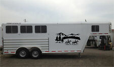 Horses Landscape & Mountains Horse Trailer RV Decal Stickers 27x60 Set of 2