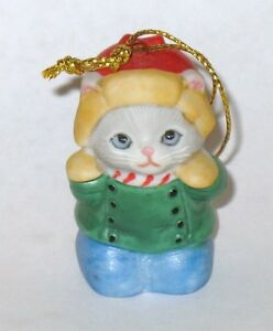 KITTY CUCUMBER OH NO SNOWBALL FIGHT ORNAMENT