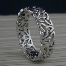 Irish Sterling Silver Trinity Knot Wedding Ring Band SIZE 6.5 or 11.5 Boru
