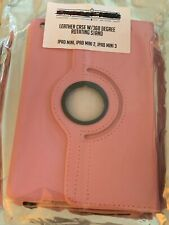 apple ipad mini 1, 2, 3 Leather Case With 360 Degree Rotating Stand Pink