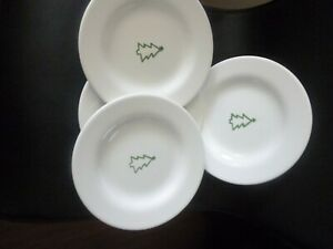"Pottery Barn KEEPSAKE Plates  8.25"" Dessert / Salad Plate Christmas Tree"