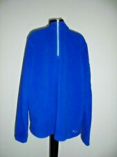 FILA Blue Polyester Polar Fleece Pullover Short Zip Jacket Sz XL