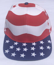 Vtg USA Stars Stripes Flag United States Of America 4th Of July StrapBack Hat