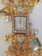 KIRKS FOLLY BILLION DOLLAR BABY CHARM WATCH NEW RETIRED GOLD PLATE TONE