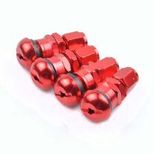 4pcs Red Bolt-in Aluminum Car Wheel Tire Tubeless Valves Stem with Dust Caps