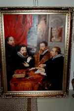 """Huge Painting of """"The 4 Philosophers"""" Beautifully Framed Gorgeous"""