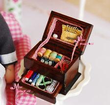Vintage Sewing Needlework Needle kit box  1:12 Dollhouse Miniature height 2.2CM
