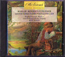 Kurt MASUR Siefried LORENZ: MAHLER Kindertotenlieder Lieder Fahrenden Geselle CD