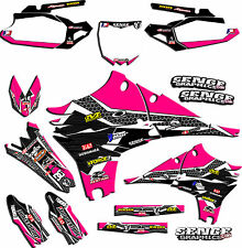 1999 2000 2001 2002 KX 125 250 GRAPHICS KIT KAWASAKI KX125 KX250 DECO PINK
